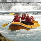 Rafting trips on Una river